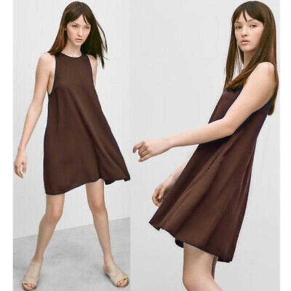 Aritzia Dresses & Skirts - Aritzia Trapeze Vegan Suede Dress
